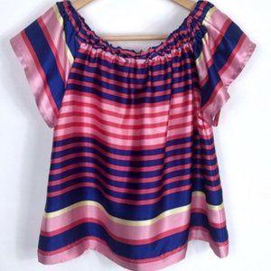 Rocks & Indigo off shoulder stripe blouse s